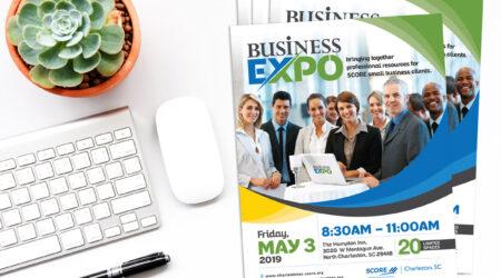 flyer, brochure, design, creative, business, SCORE, Charleston, expo, print, marketing, advertising
