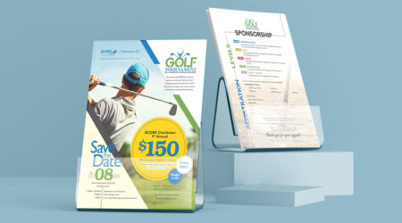 Creative, brochure, flyer, advertising, logo, creative, golf tournament, golf, score, charleston