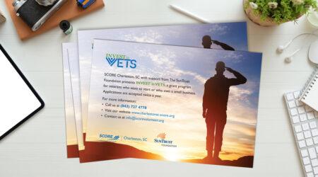 Flyer, brochure, Leaflet, Veteran, SCORE, Charleston, print, creative, design