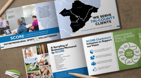 Booklet, brochure, design, creative, print, graphic design, SCORE, Charleston, mentor
