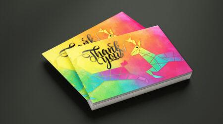 Creative, Print, Design, Card, Thank you, Color, Logo, Brand