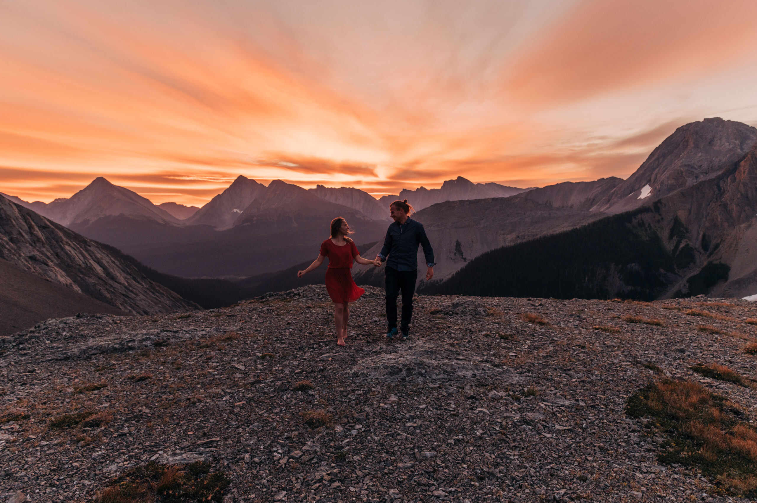 Mountaintop Sunset Elopement