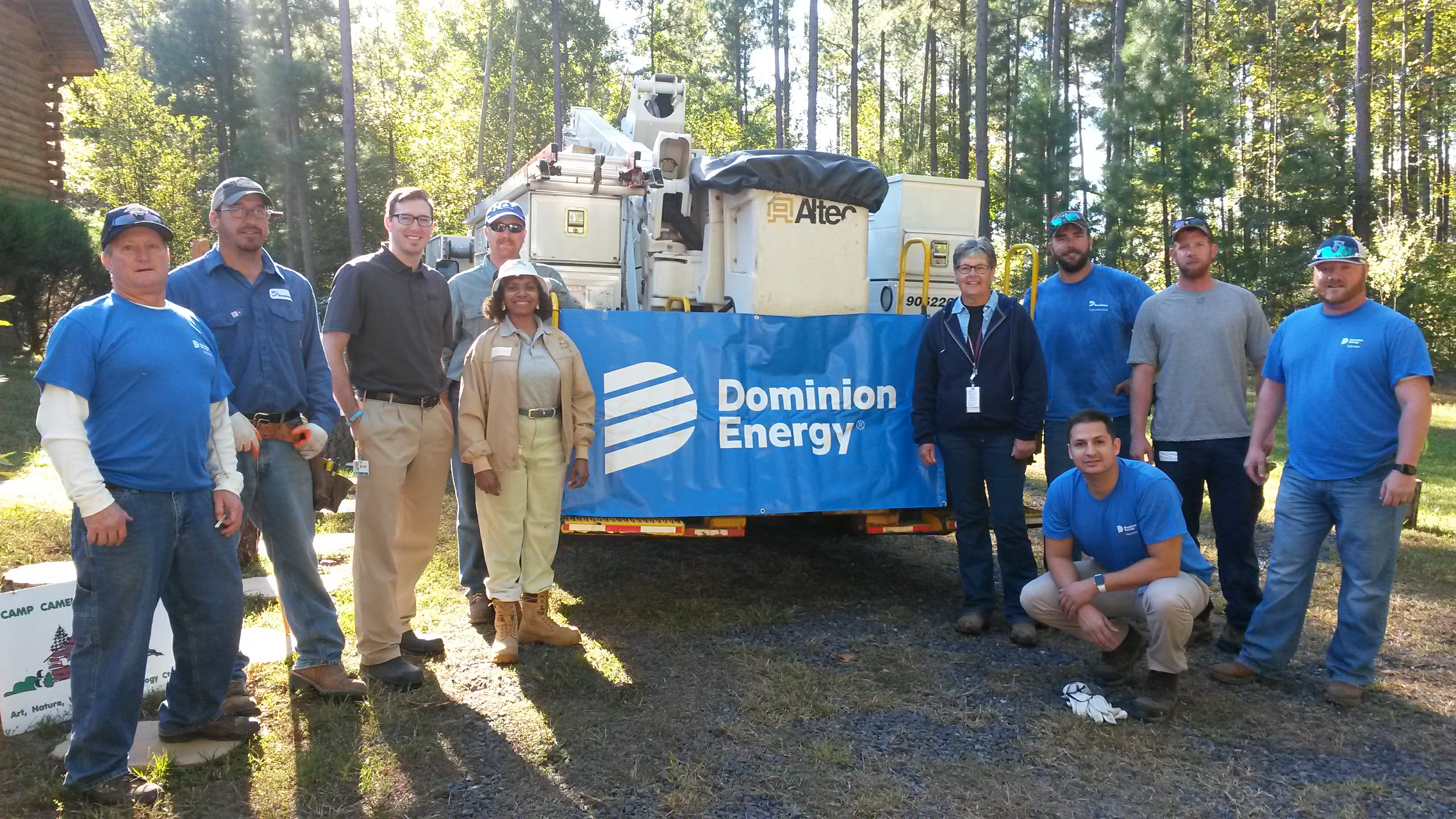 Dominion Energy Company provided a grant and employees to design, build and install three bridges across the Pine Forest Streams making the forest trails handicapped accessible for veterans and students.
