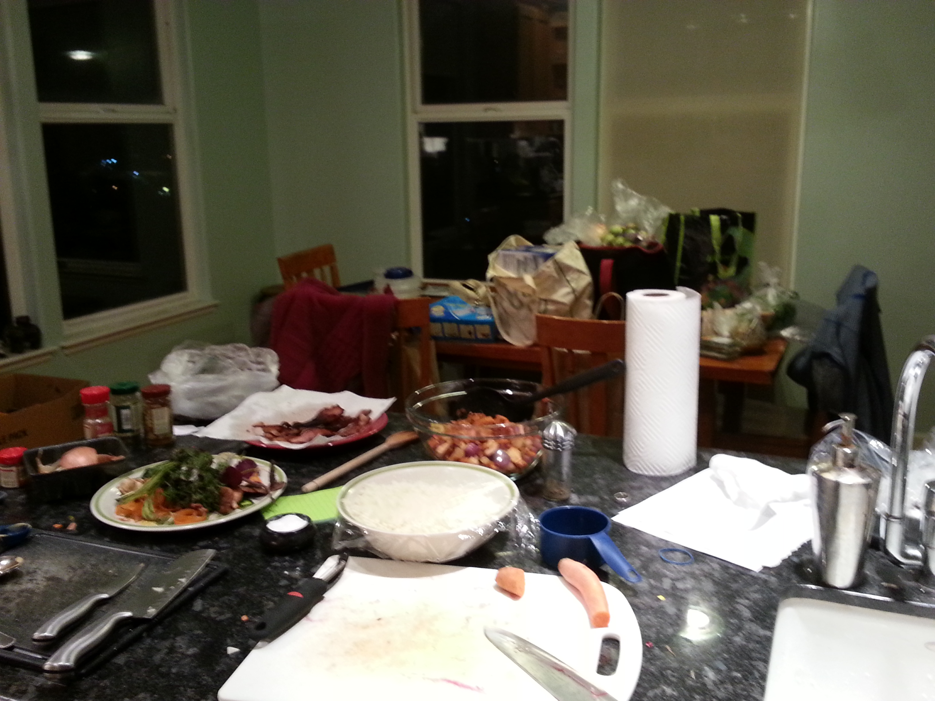 A kitchen full of fresh veggies? A beautiful thing