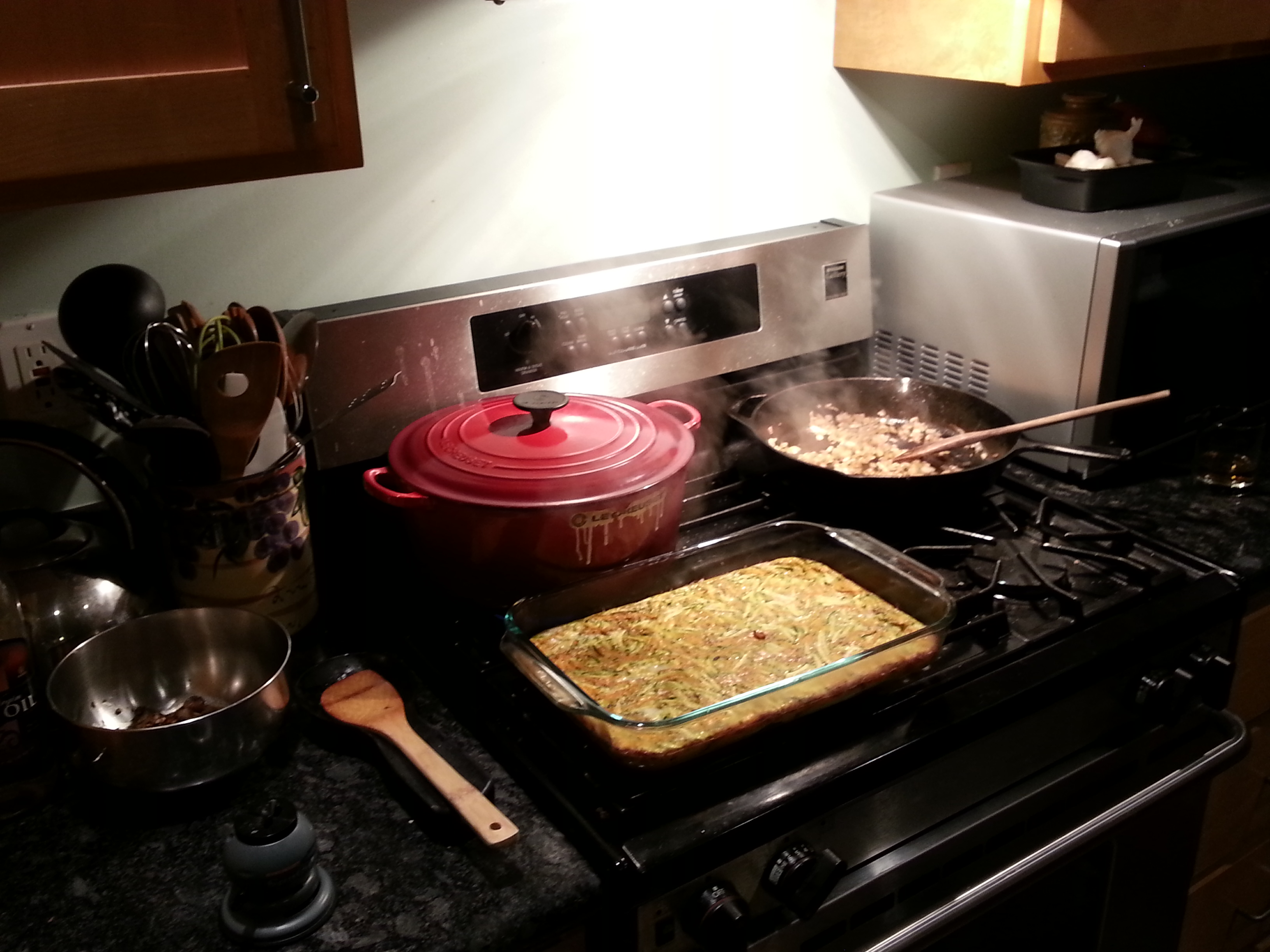Nothing like a stoveful of cooking magic