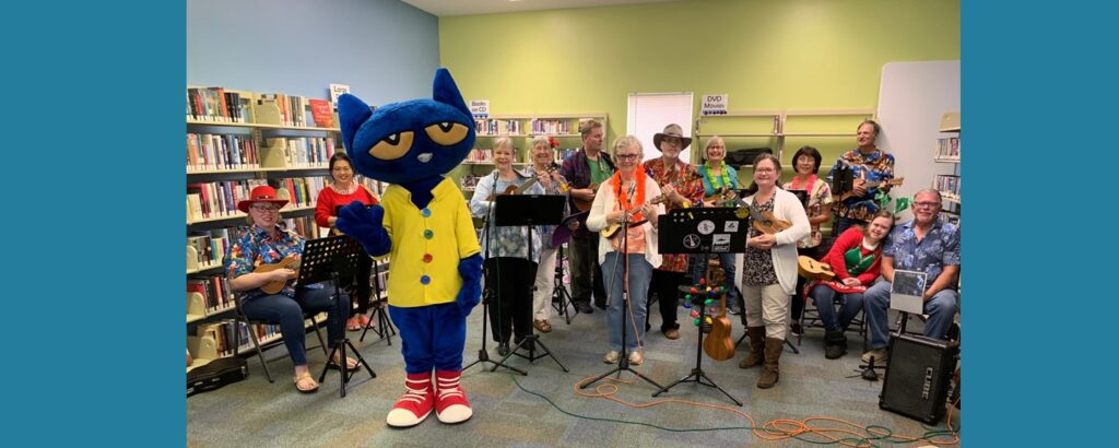 Parker Public Library Reopening 2019 with Pete the Cat