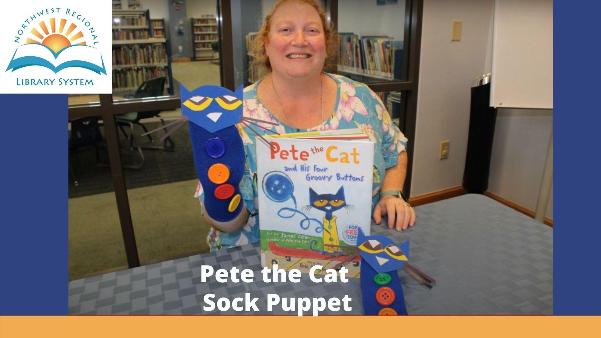Pete the Cat Sock Puppet