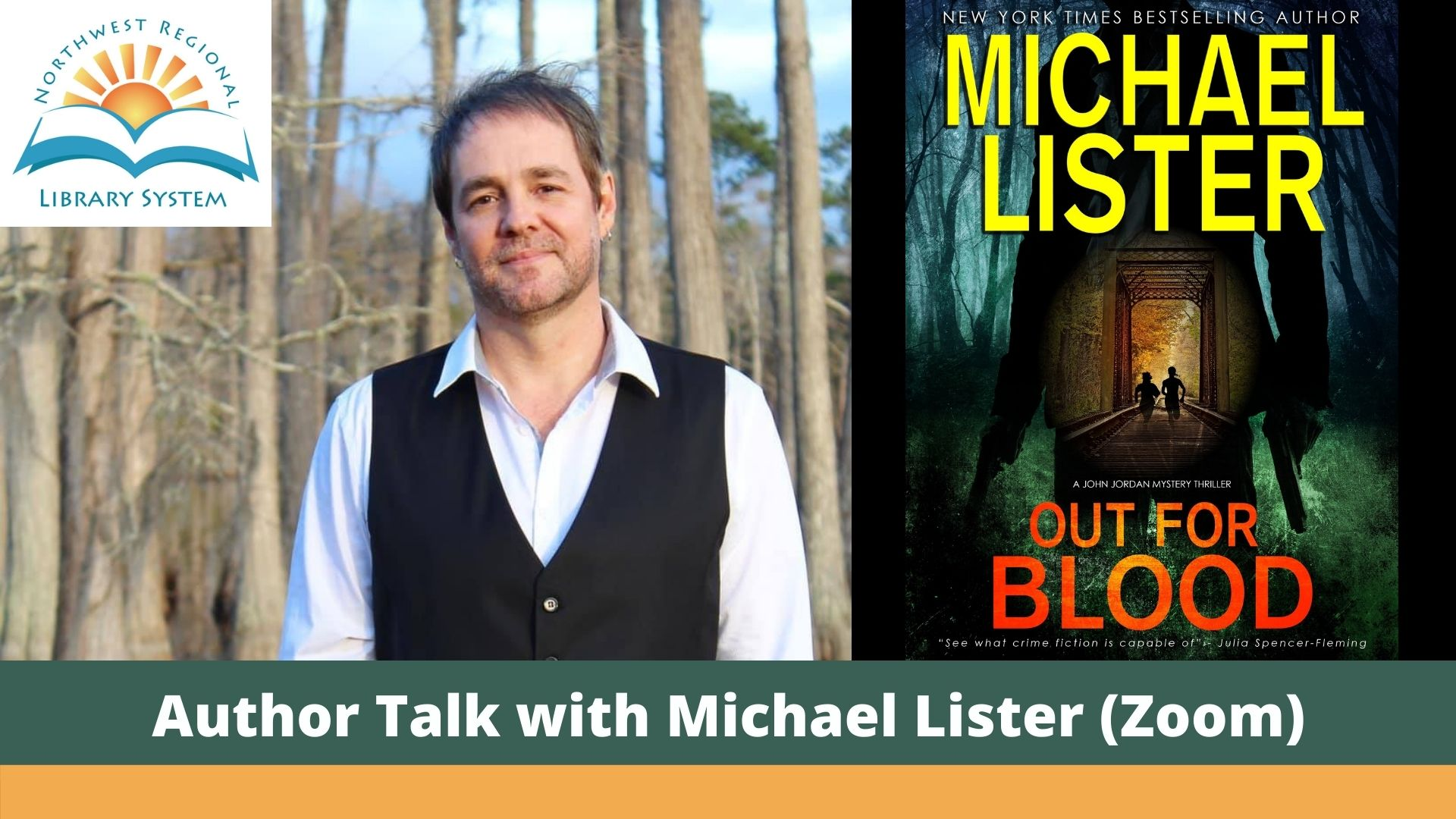 Michael Lister and his new title Out for Blood