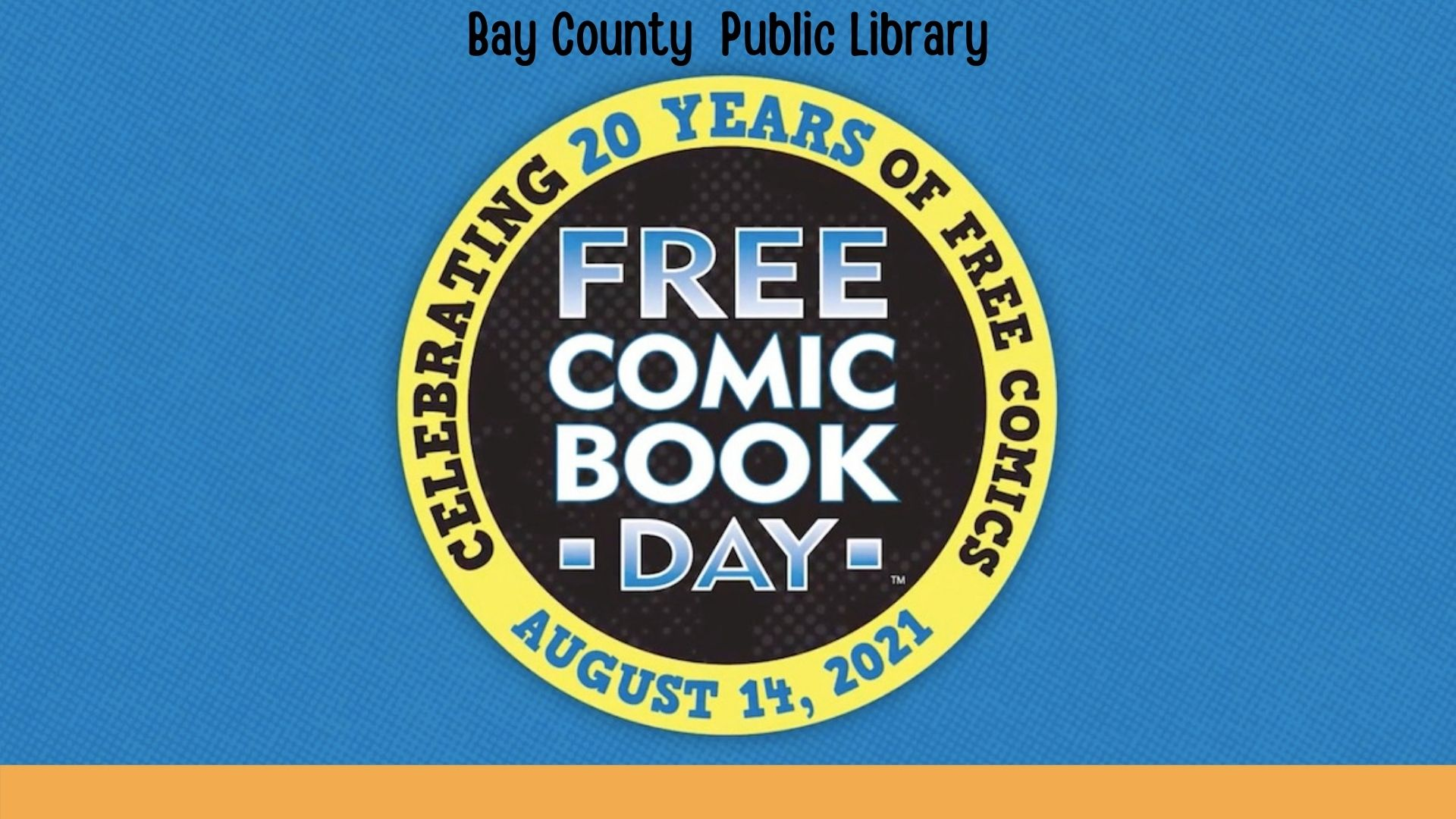 Free Comic Book Day logo for August 14 2021