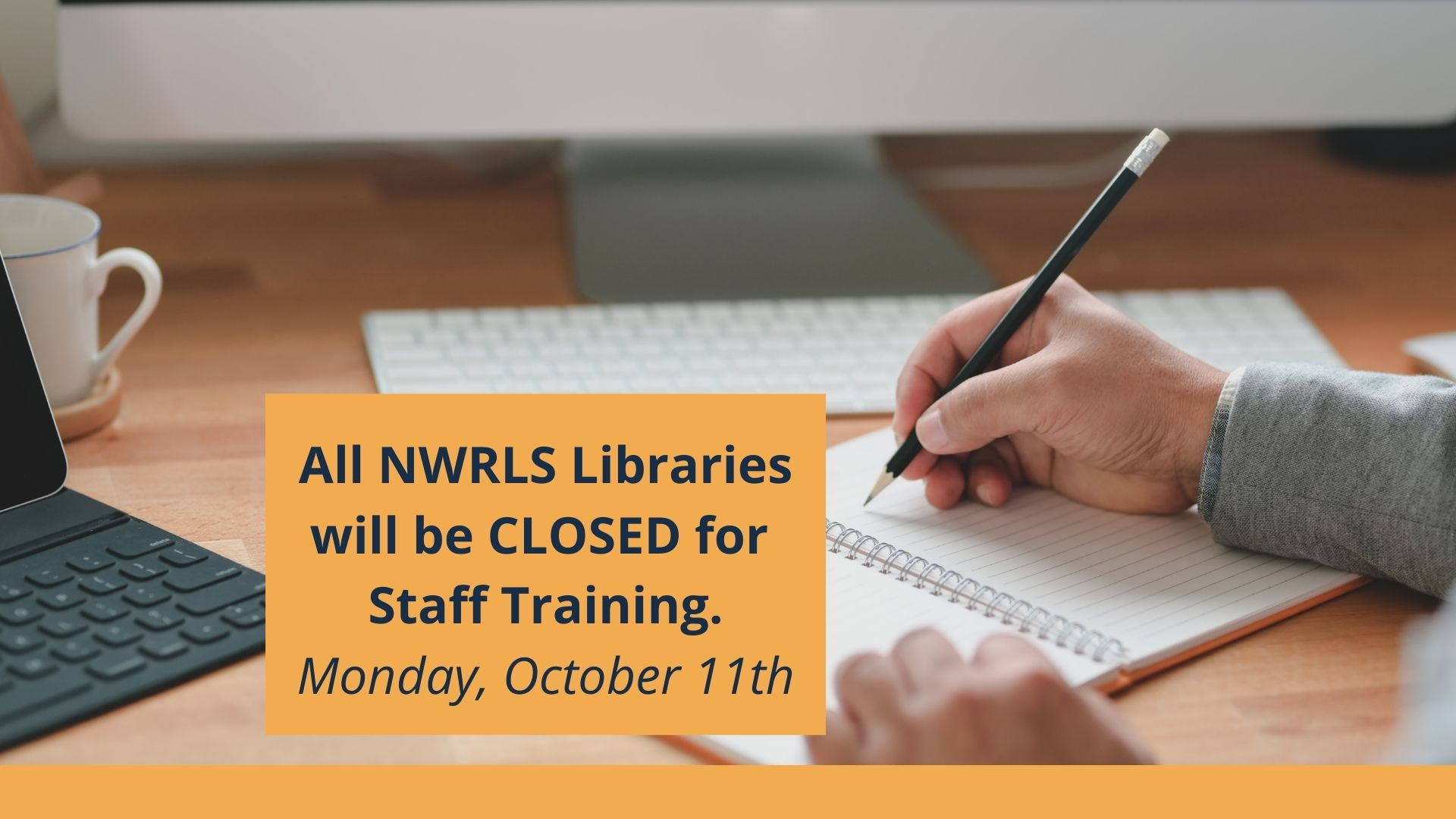 Locations closed for Staff Training Day on October 11