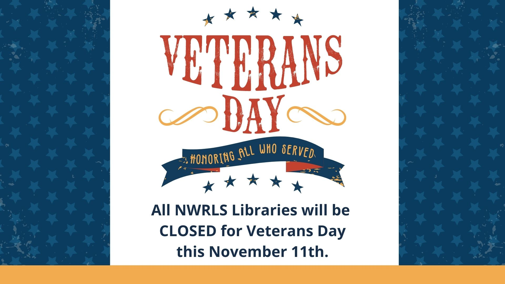 Veterans Day Library Closure