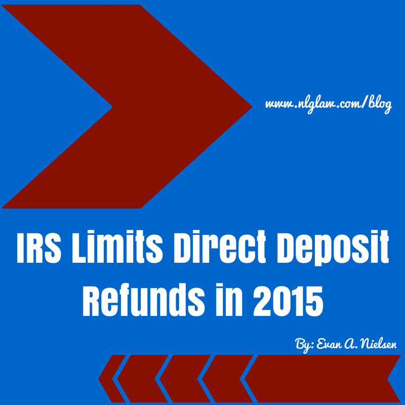 IRS Limits Direct Deposit Refunds in 2015