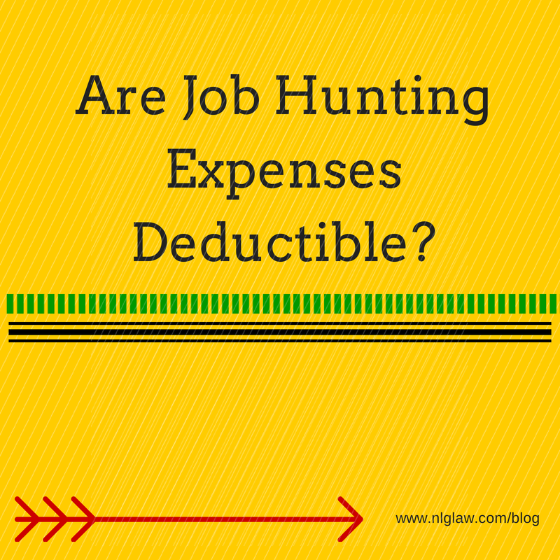 Are Job Hunting Expenses Deductible?