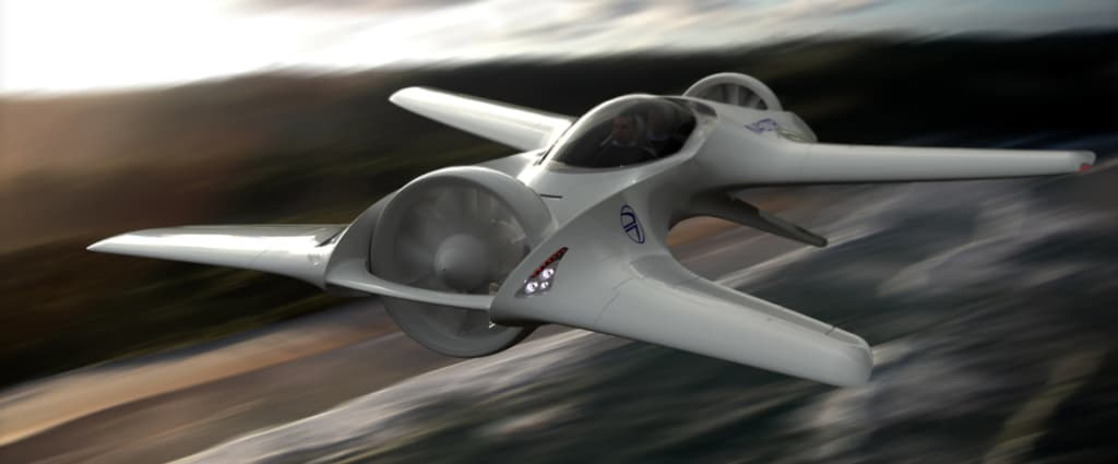 delorean flying car of the future