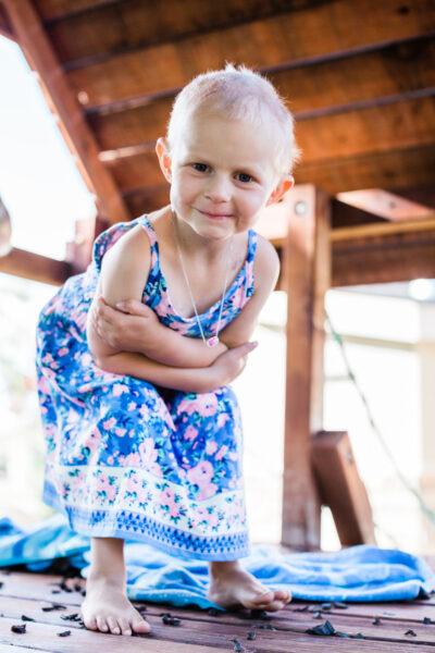Little Danica in Blue dress