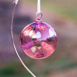 fuschia, pink, blue ornament