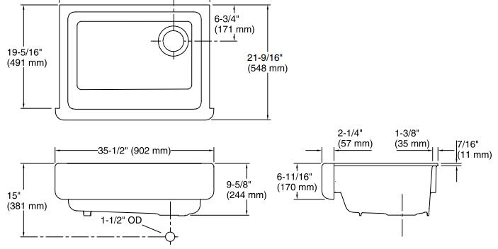 Kohler Whitehaven - diagram 1