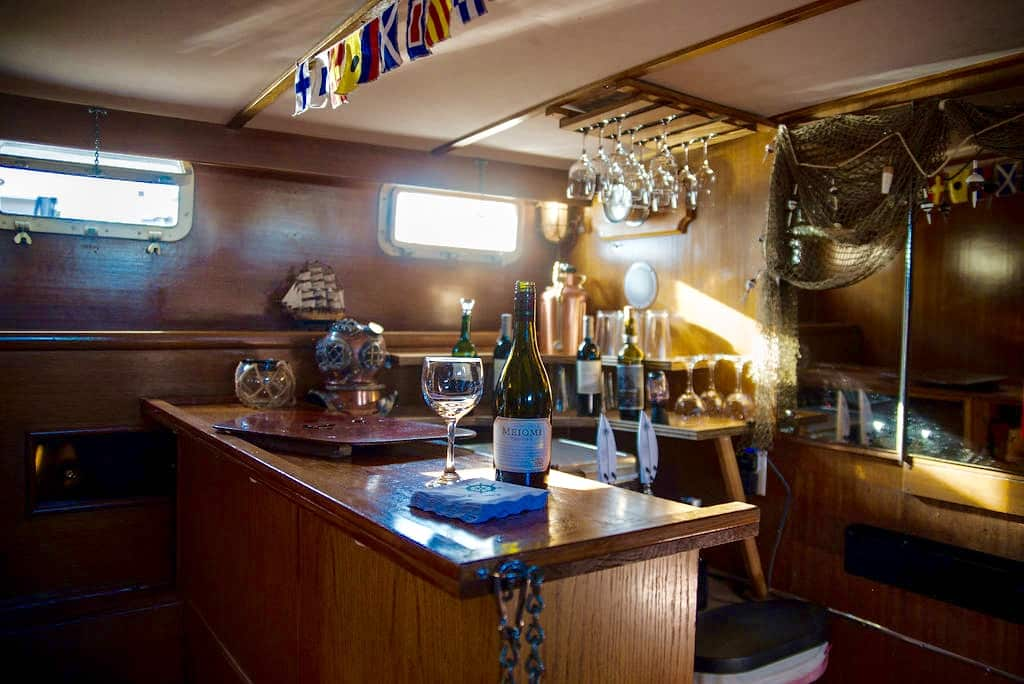 luxury yacht, bar, salon, huntington beach, california, wine