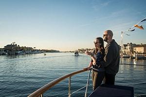 Romantic Sunset Boat Rental in Huntington Harbour