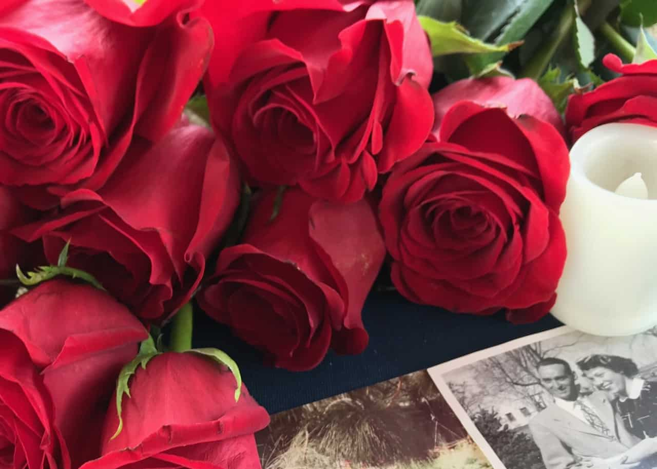 Roses for funeral service
