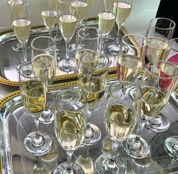 champagne toast for funeral