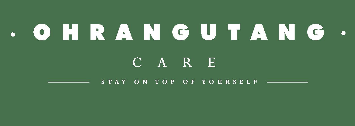Ohrangutang Care full logo white