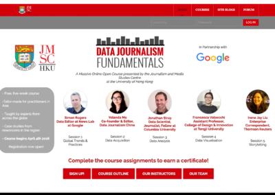 Data Journalism Fundamentals MOOC 2016