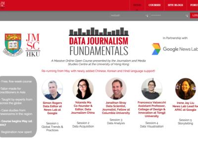 Data Journalism Fundamentals MOOC 2017
