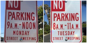 New 'No Parking' Signs in the Hollywood Riviera on Street Sweeping Days!