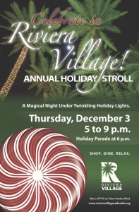 Don't Miss Hollywood Riviera's 2015 Holiday Stroll!!  Thursday, December 3rd from 5-9pm!