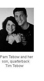 Pam Tebow and son, Tim
