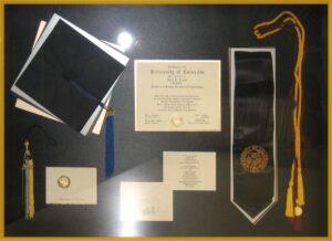 graduation memorabilia framing