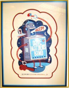 concert poster framing