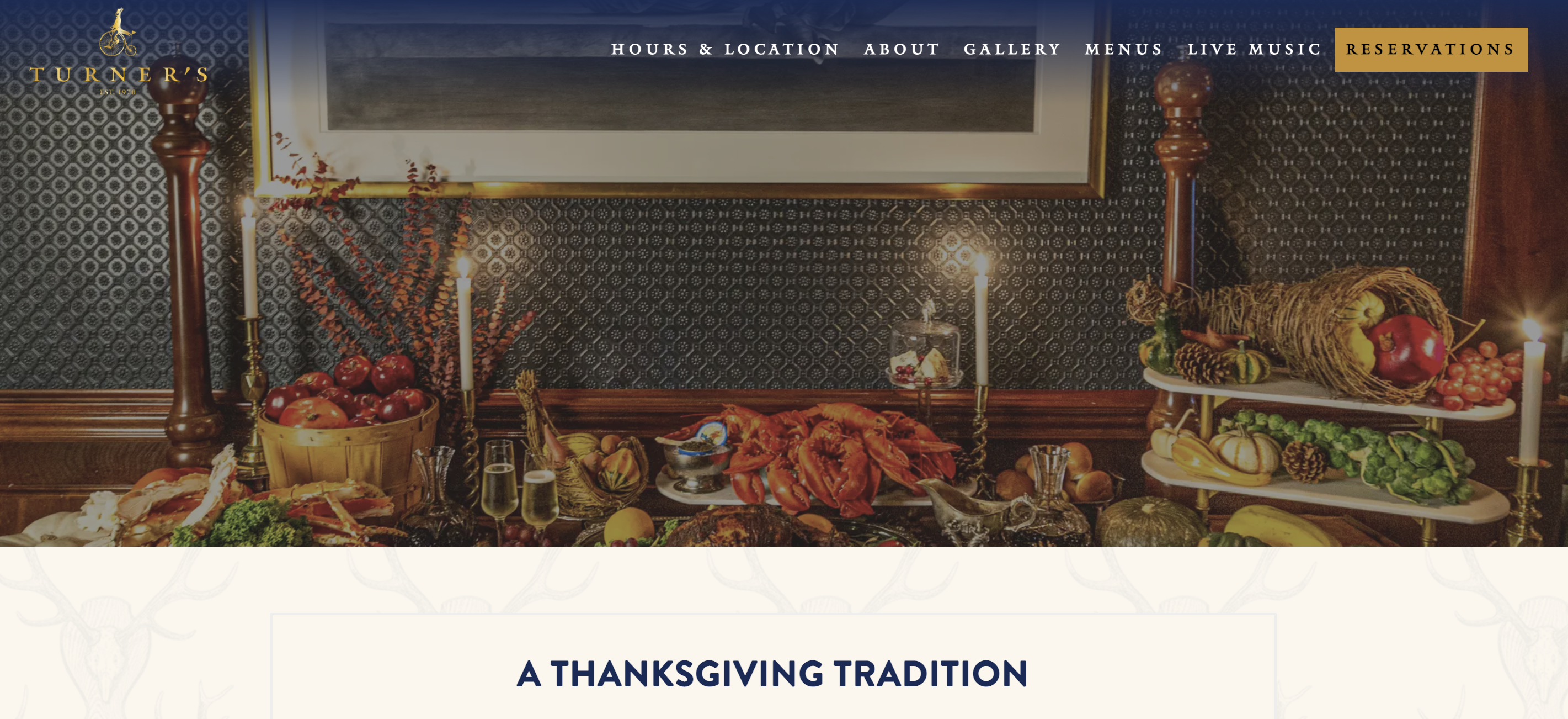 Thanksgiving Day at Turner's