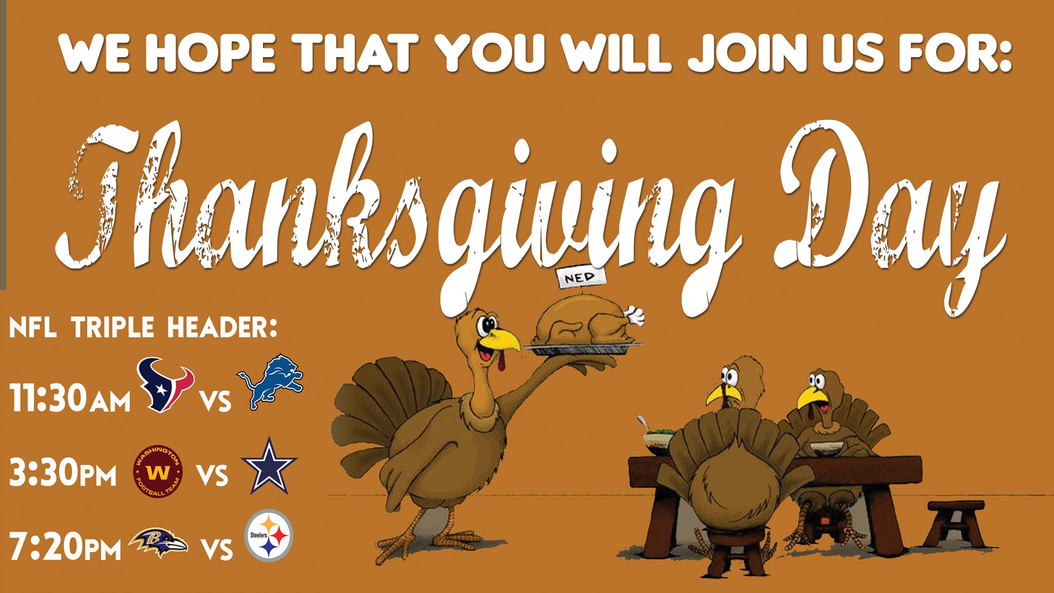 Thanksgiving Day at Stats Sportsbar & Grill
