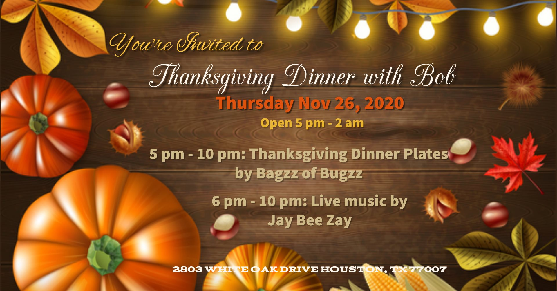 Thanksgiving Dinner Party at Bobcat Teddy's Ice House