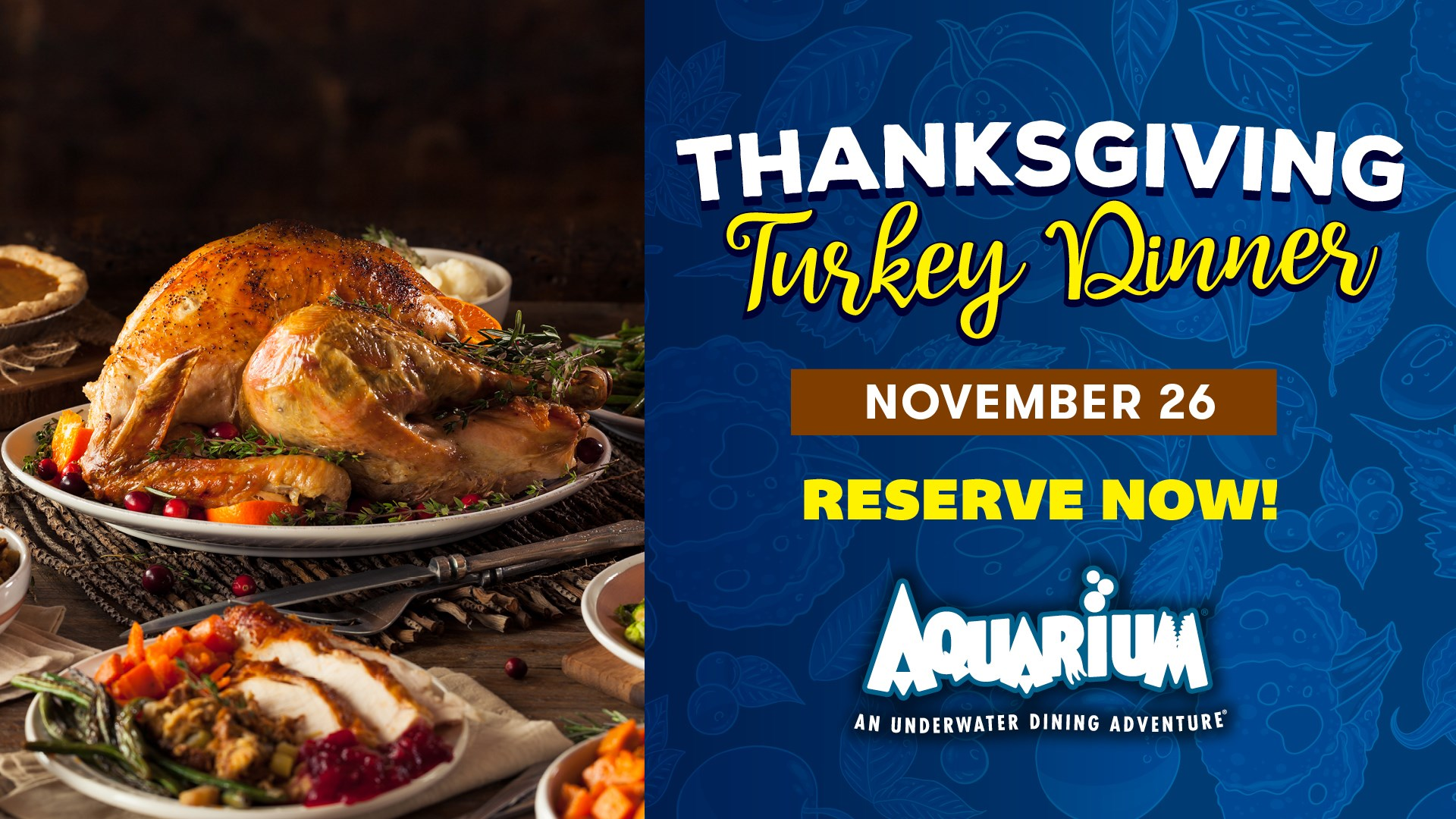 Thanksgiving Turkey Dinner at Downtown Aquarium