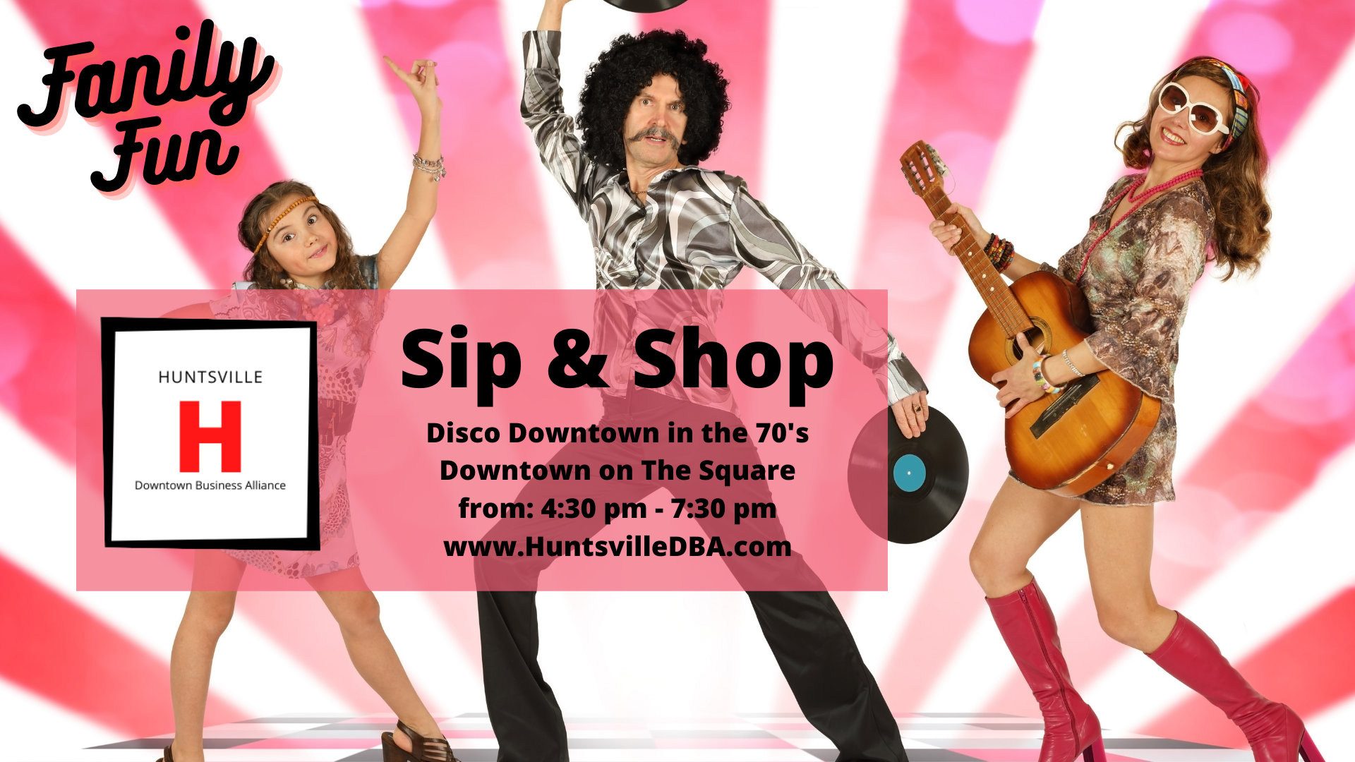 Sip & Shop Disco Downtown in the 70's
