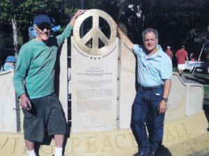 Ken Kolsbun with Daniel Ellsberg in Sebastopol, CA