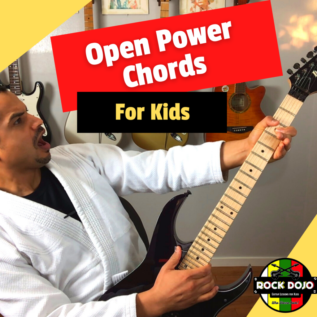 Guitar Sensei plays power chords