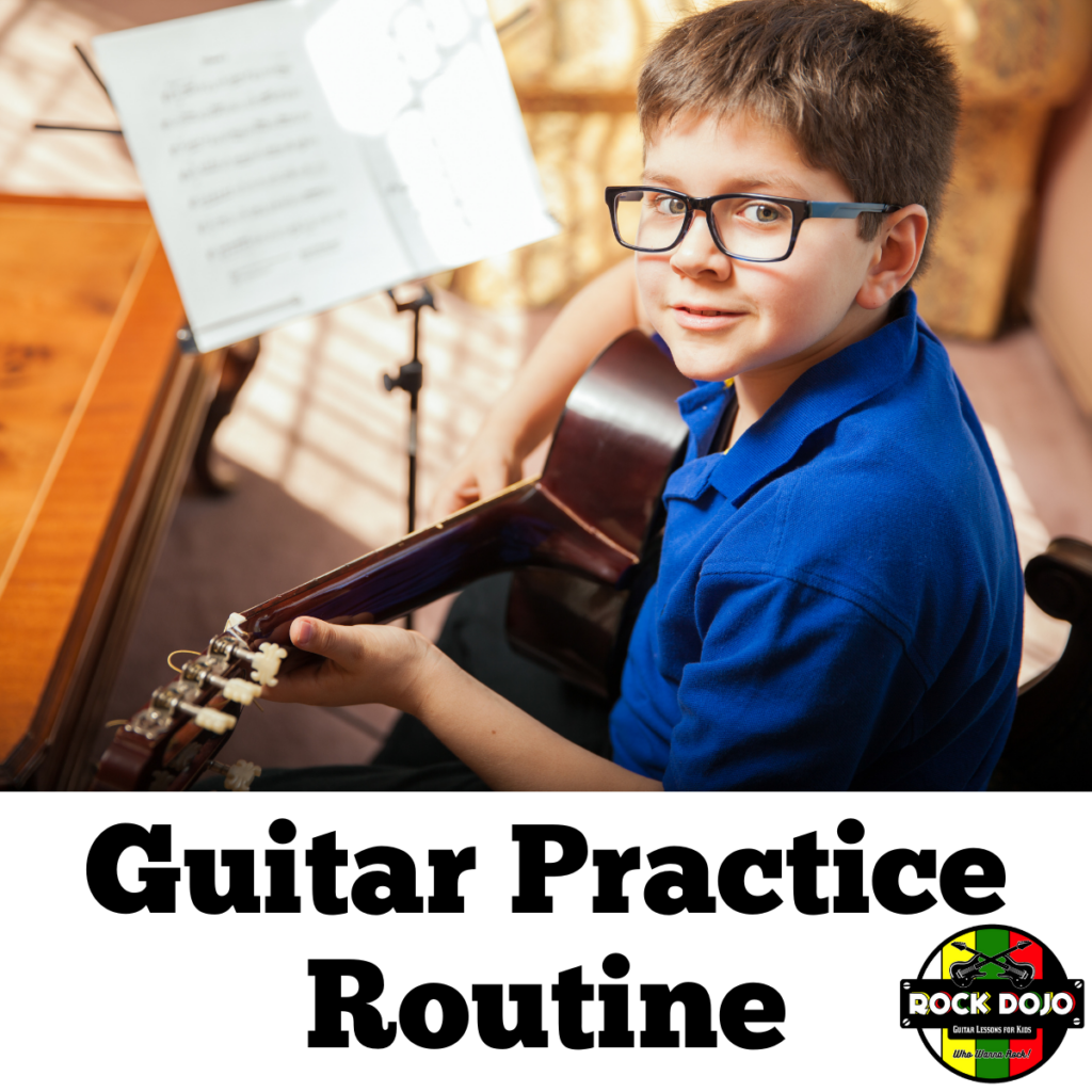 Learn how to build a guitar practice routine so you can get the most of our your child's guitar lessons for kids.