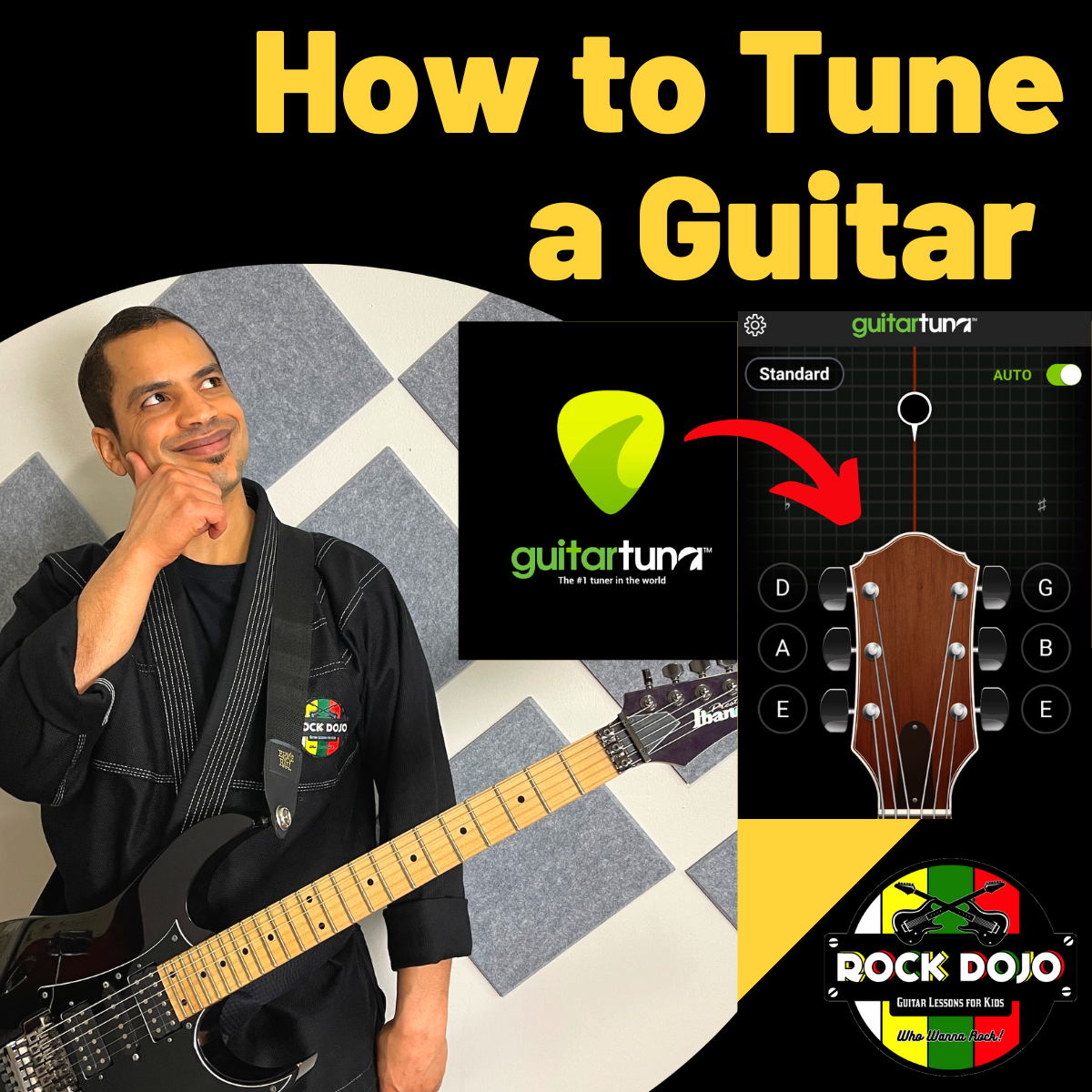 Learn how to tune a guitar.