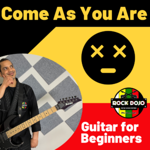 Learn how to play come as you are on guitar in this free online guitar lesson for kids.