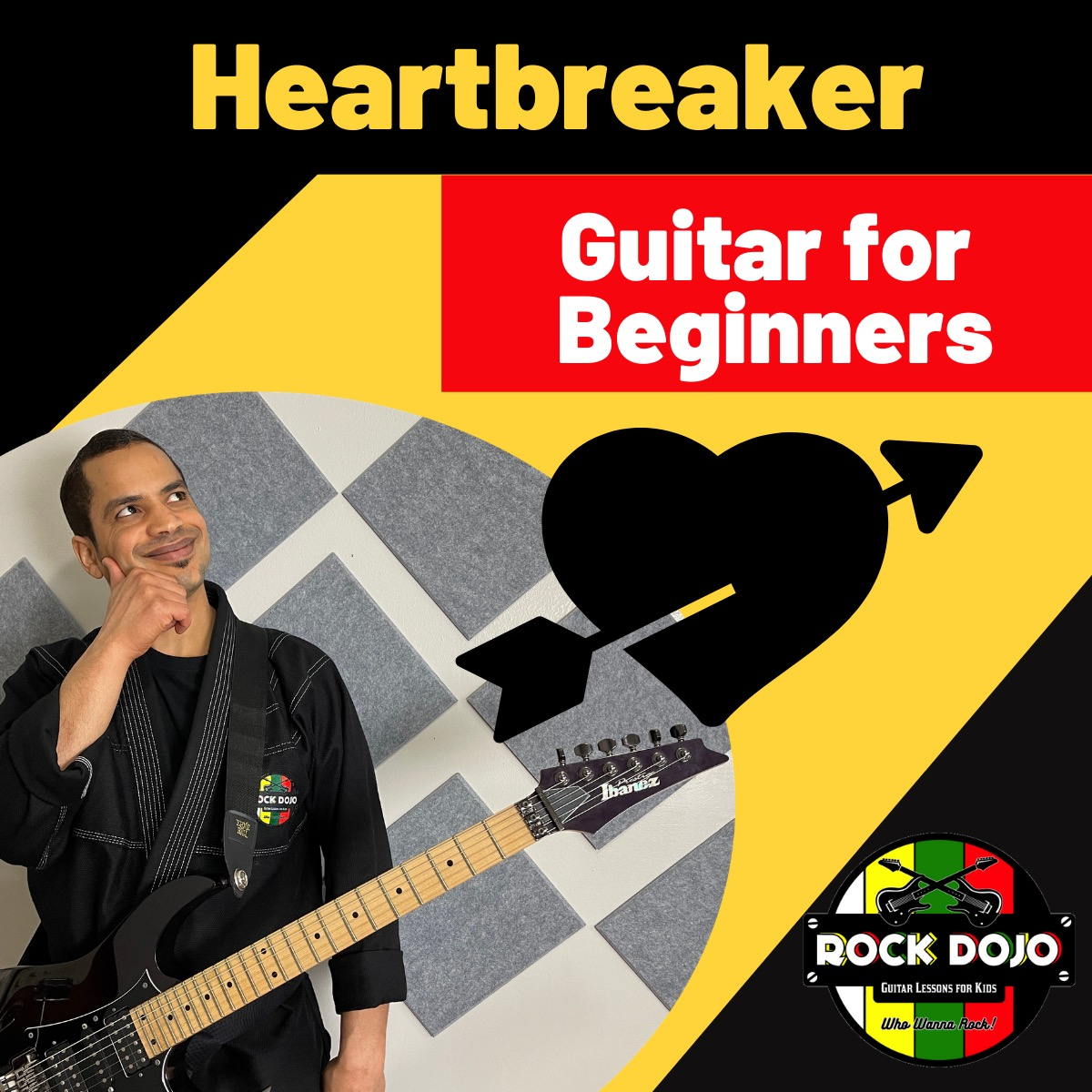 Learn how to play heartbreaker on guitar in this free online guitar lesson for kids.