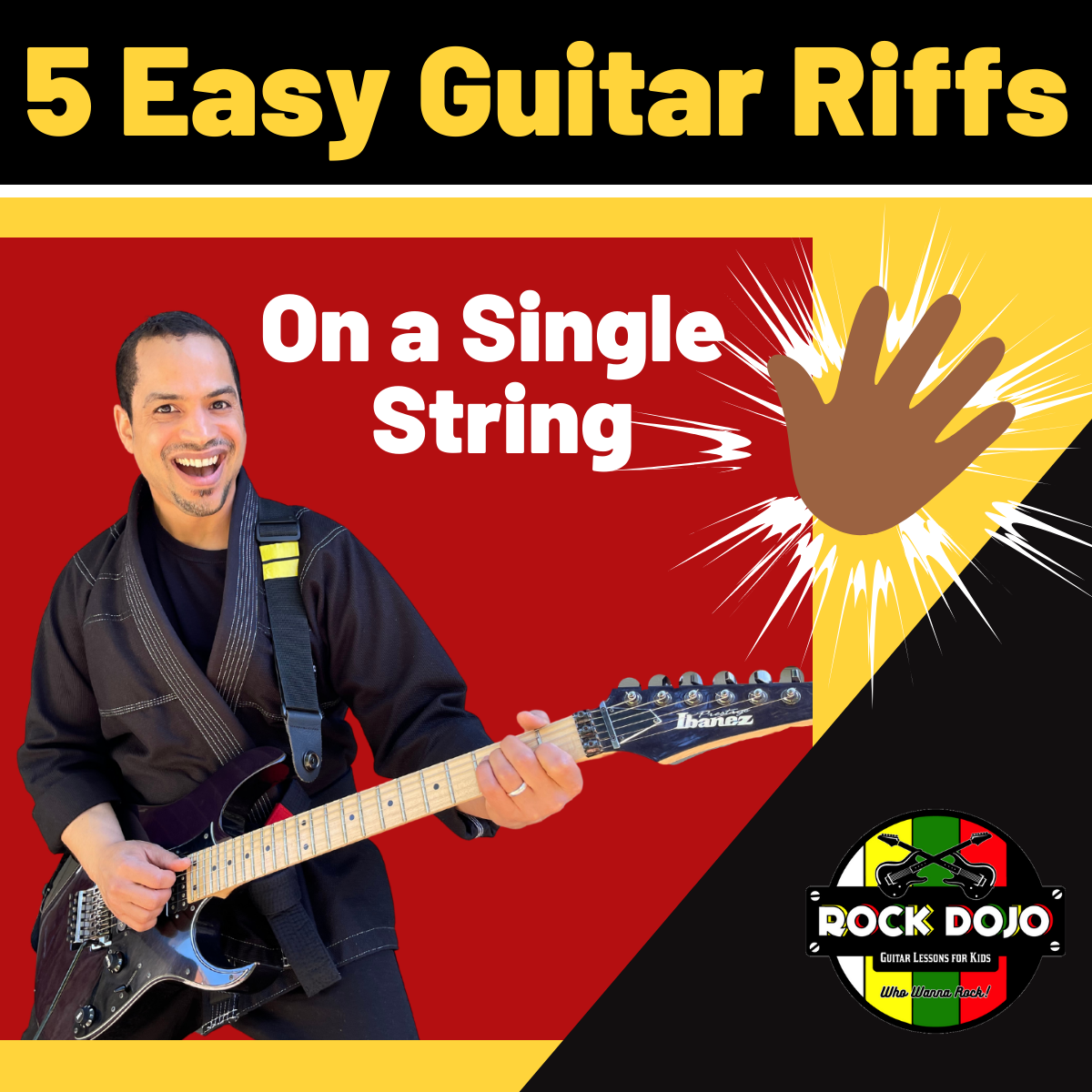 5 Easy Guitar Riffs on a Single String Online Guitar Lessons for Kids