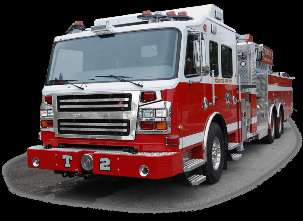 Rochester Fire Department firetruck.