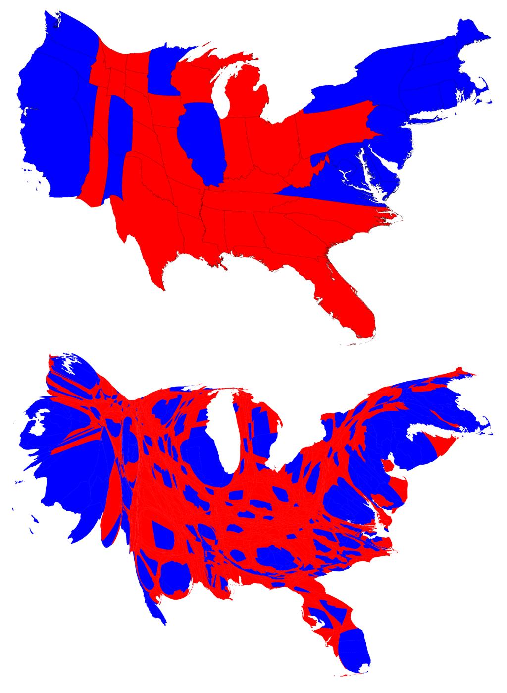 vote-cartogram