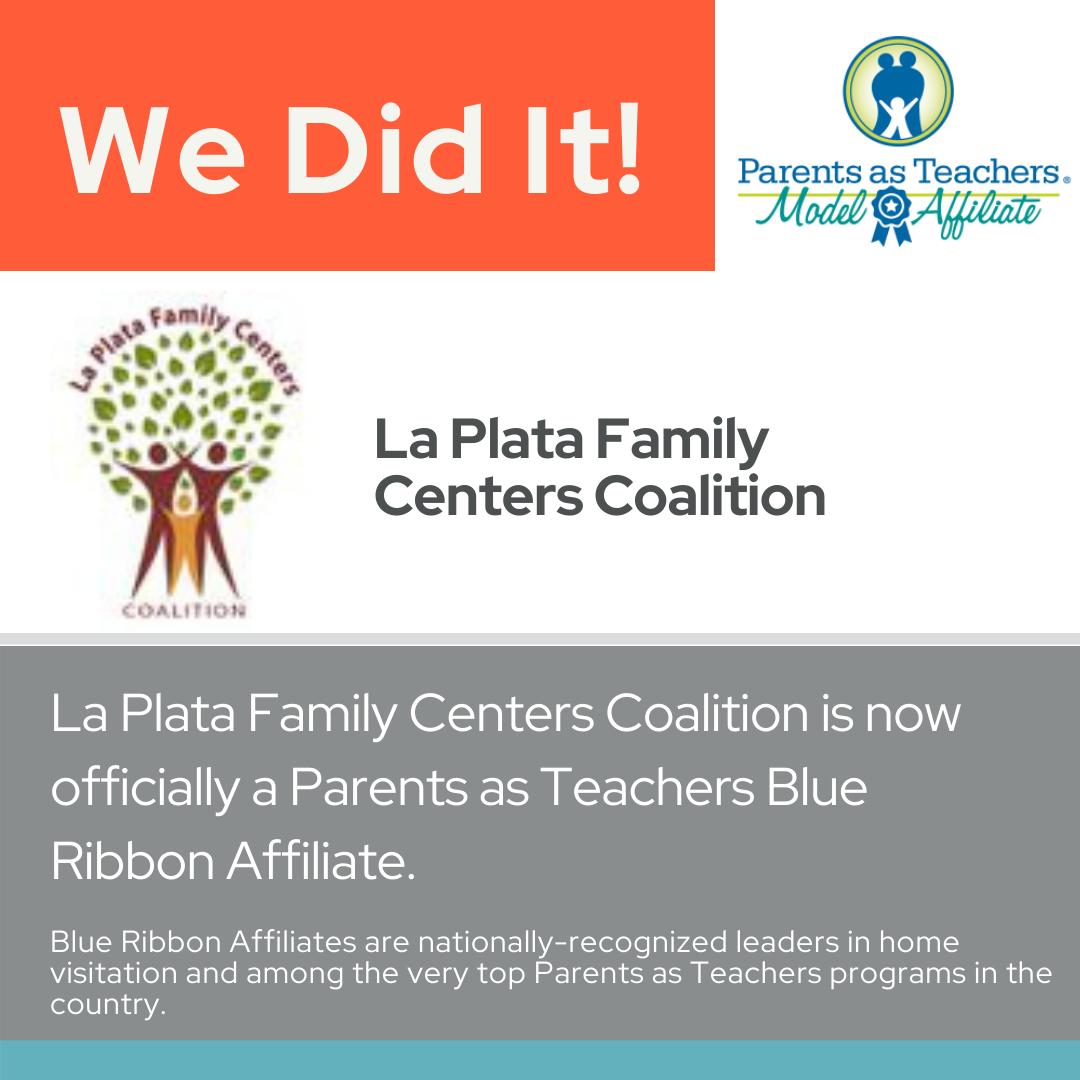 LPFCC Earns Parents as Teachers National Center Blue Ribbon Affiliate Status.