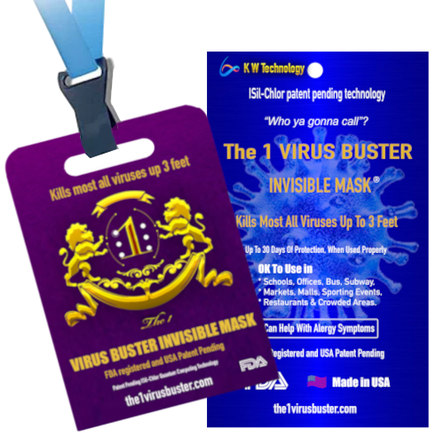 Virus Buster Airborne Prevention Card