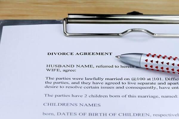 divorce paperwork